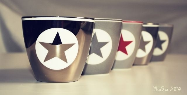 Green Gate latte cup Star Silver / Warm Grey