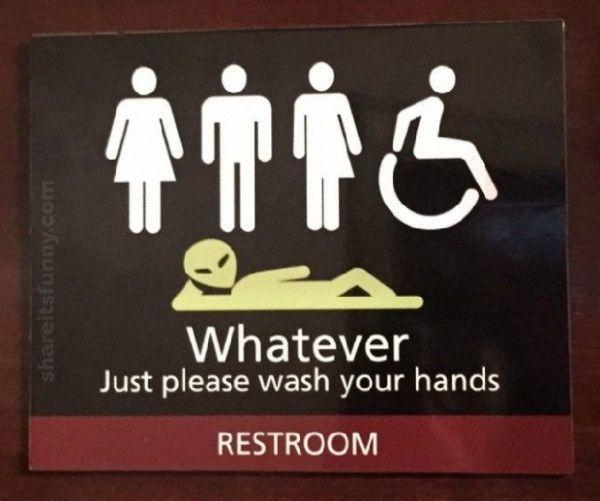 All Gender Restroom Sign - https://shareitsfunny.com/all-gender-restroom-sign/ - Funny Pictures on  Share Its Funny  #allgenderrestroomsign