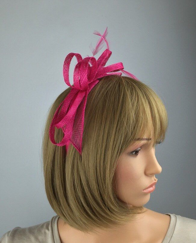 Excited to share the latest addition to my #etsy shop: Fuchsia Pink fascinator hot pink hairband wedding day fascinator mother of bride Ascot races ladies day #weddings #accessories #pink #barbiepink #hairdecoration #hotpink #ascot #motherofthebride #hatsandcaps
