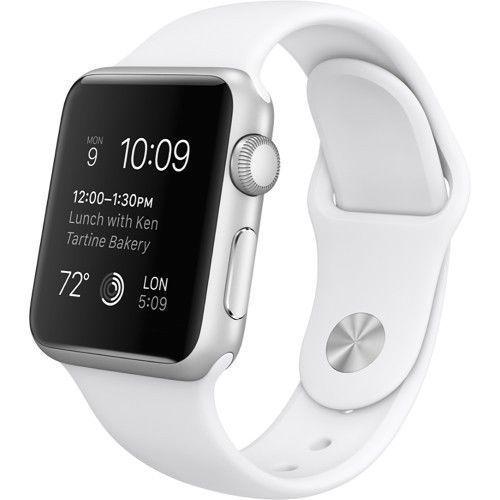 Apple WATCH SPORT 38mm Silver Aluminum Case White Sport Band (MJ2T2LL/A) #Apple