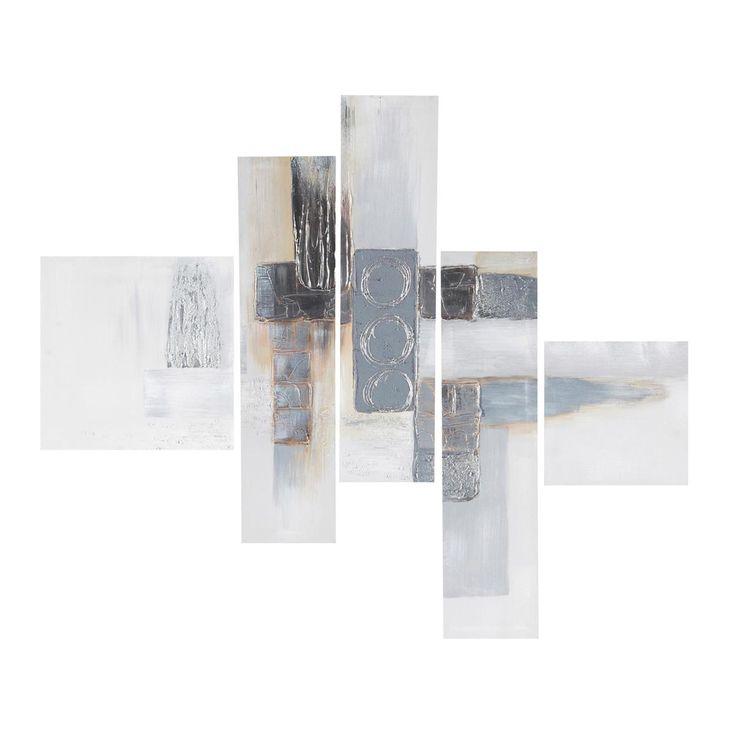 Maison du monde Toile destructurée peintes main blanche 90 x 110 cm MODERN ARTS 79,99 €