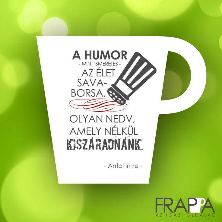 Antal Imre idézet a humorról. A kép forrása: Frappa Magazin