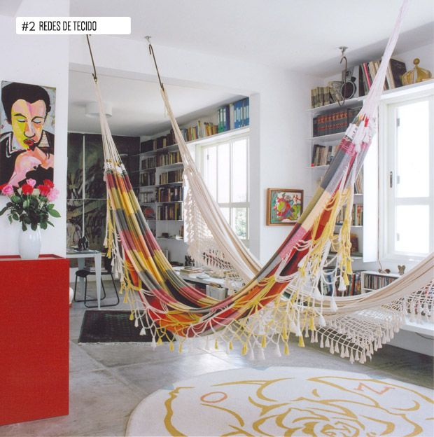 indoor hammocks #decor #brasil