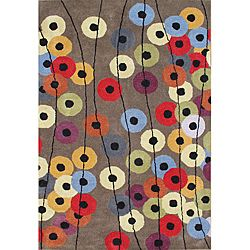 8 x 10  @Overstock - Vibrant circles in hues of rust, blue, green and olive scatter the grey backdrop of this colorful Metro Circles area rug. Hand-tufted of New Zealand wool, this rug features a plush 0.70-inch pile.http://www.overstock.com/Home-Garden/Hand-tufted-Metro-Circles-Grey-Rug-8-x-10/6091764/product.html?CID=214117 $323.09: Blend Wool, Elephant, Living Room, Wool Rugs, New Zealand, Metro Circles, Zealand Blend