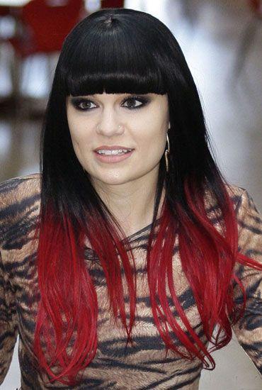 DIY: dip dye haar Jessie J rood