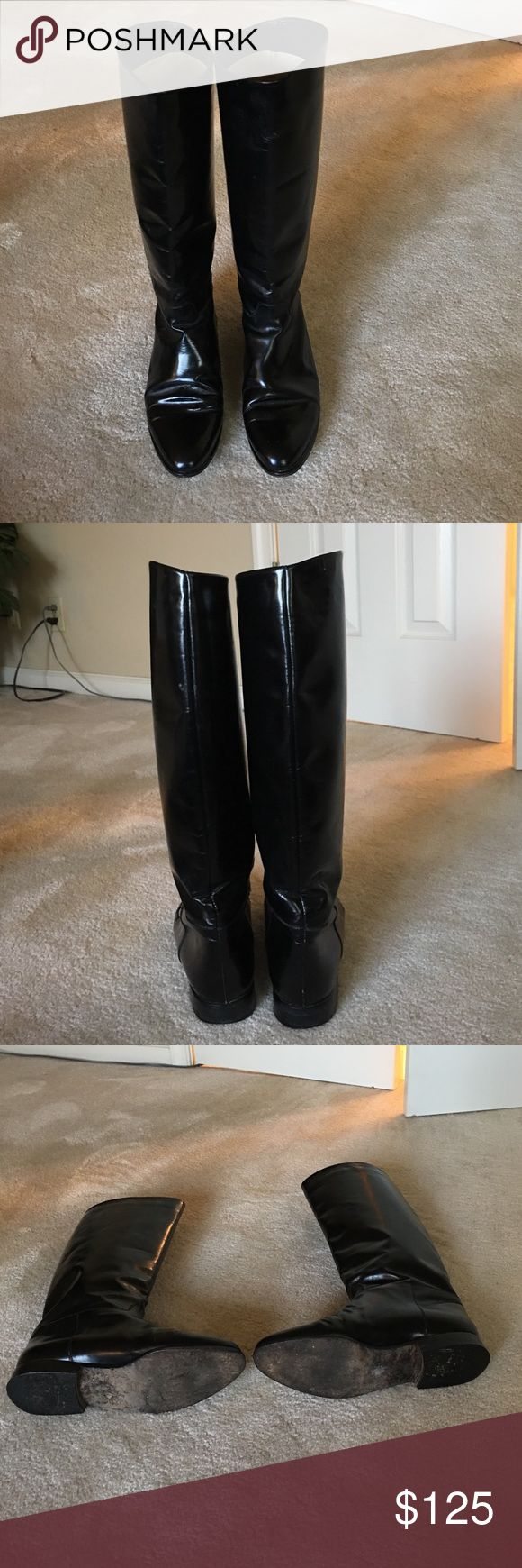 Charles David leather riding boots. Charles David black leather riding boots. Excellent condition!! Made in Italy. Charles David Shoes