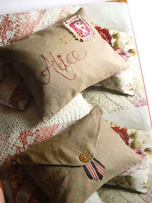Envelope pillows from Everything Alice
