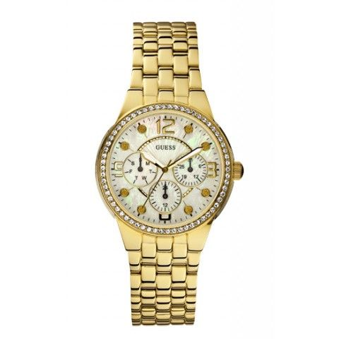 Guess Ladies Gold Tone Bracelet Watch