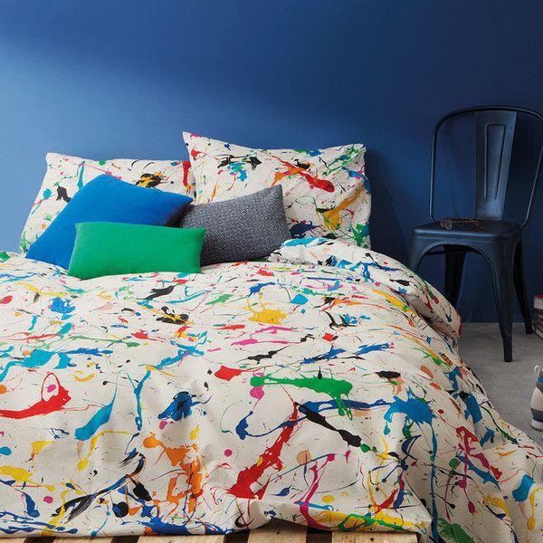 Snurk Splatter Duvet Set Single 65 Liked On Polyvore Featuring Home Bed Bath Bedding Duvet Covers Duvet Sets Bed Linen Australia Timeless Bedroom