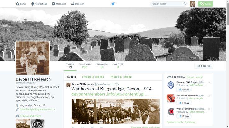 Devon Family History Research is now on Twitter! Please follow us: https://twitter.com/devonfhresearch