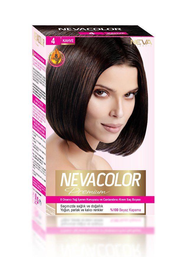 Nevacolor Premium Sac Boyasi 4 Kahve Sac Boyasi Sac Renkler