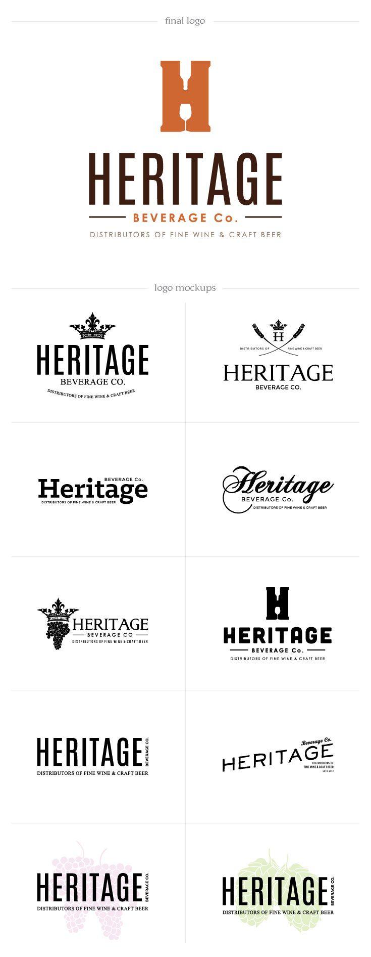 Heritage Beverage Co  -  DesAutels Designs | branding & logo developement
