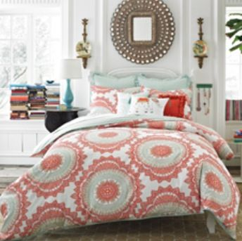 53 best Turquoise and coral bedroom images on Pinterest | Bedroom ...