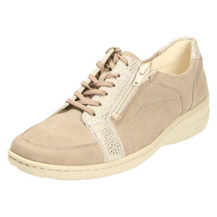 Dieser schöne Schuh der Qualitätsmarke Waldläufer und der Farbe beige ist  perfekt für jeden Anlass geeignet