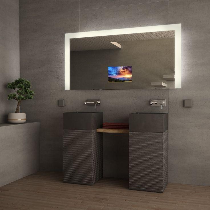 Yli tuhat ideaa Spiegel Nach Maß Pinterestissä Handwaschbecken - badezimmerspiegel mit tv