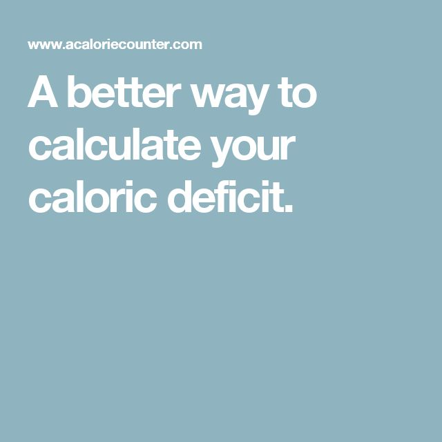 A better way to calculate your caloric deficit. http://www.4myprosperity.com/?page_id=19