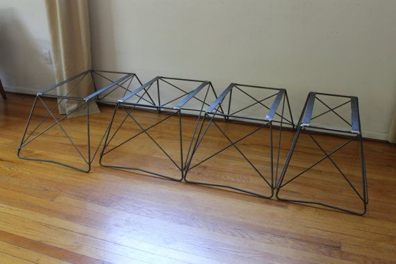 Mid Century Cats Cradle Coffee Table Base Raw Steel Base only
