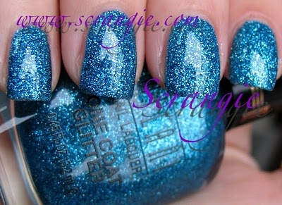 Milani One Coat Glitter Specialty Nail Lacquer 523 Blue Flash: 523 Blue, Milani Blue, Milani Rockstar, Blue Flash, Glitter Specialty, Coats Glitter, Nails, Heavy Glitter, Glitter Collection
