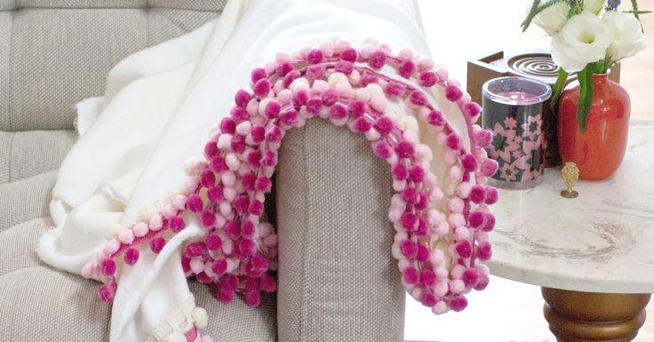 DIY Pom-Pom Blanket   POPSUGAR Smart Living