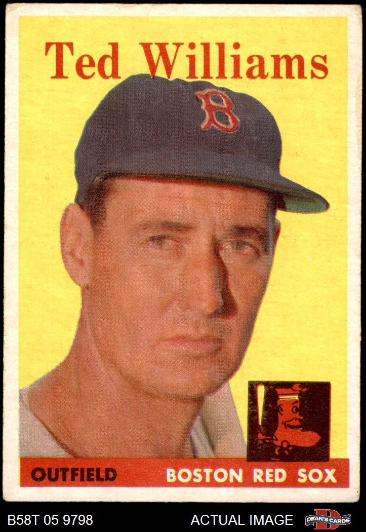 1958 topps 1 ted williams boston red sox baseball card