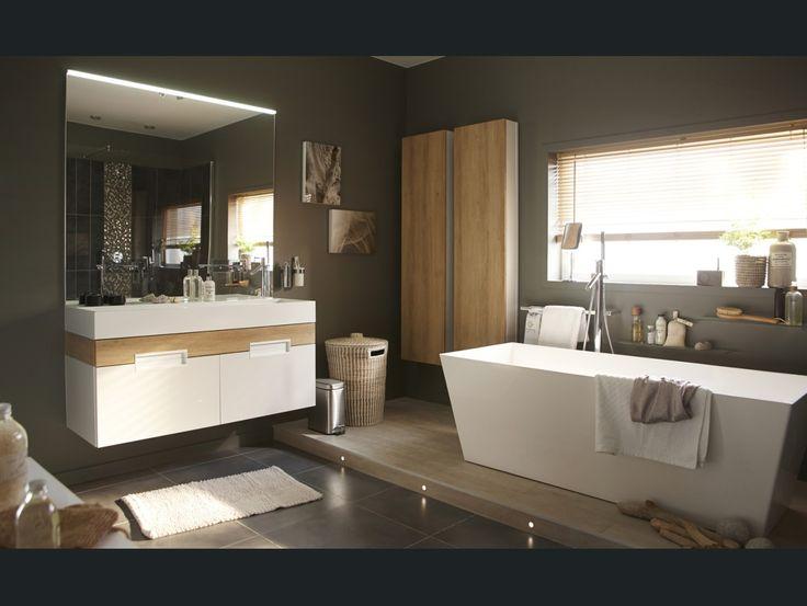 17 best salle de bain images on Pinterest Bathroom, Bathrooms and - leroy merlin meuble salle de bain neo