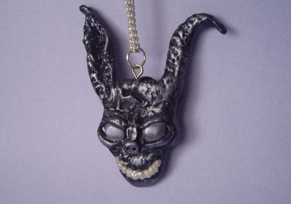 Donnie Darko Frank Bunny Mask Polymer Clay Necklace