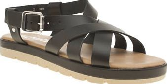 Schuh Black Nilly Womens Sandals Woven delights arrive fresh from schuh in the form of the Nilly. The strappy black leather upper features silver buckle strap fastening, sitting on top of a black midsole and beige rubber outsole for  http://www.comparestoreprices.co.uk/january-2017-8/schuh-black-nilly-womens-sandals.asp