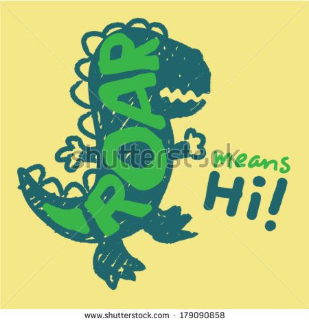Baby dinosaur roaring. Vector design by graphic7, via Shutterstock