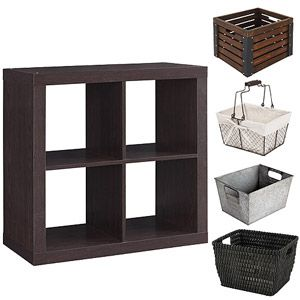 Better Homes And Gardens Square 4 Cube Organizer With Optional Storage Bins,  Mutliple Options.