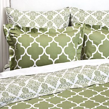 I want this bedding for my guest bedroom - gorgeous, but relatively gender neutral!