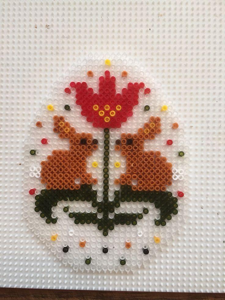 Easter egg hama mini beads by Sisse Nielsen
