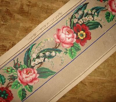 BEAUTIFUL-19th-CENTURY-HAND-PAINTED-BERLIN-WOOLWORK-DESIGN-CARTOON-FOR-BORDER-1