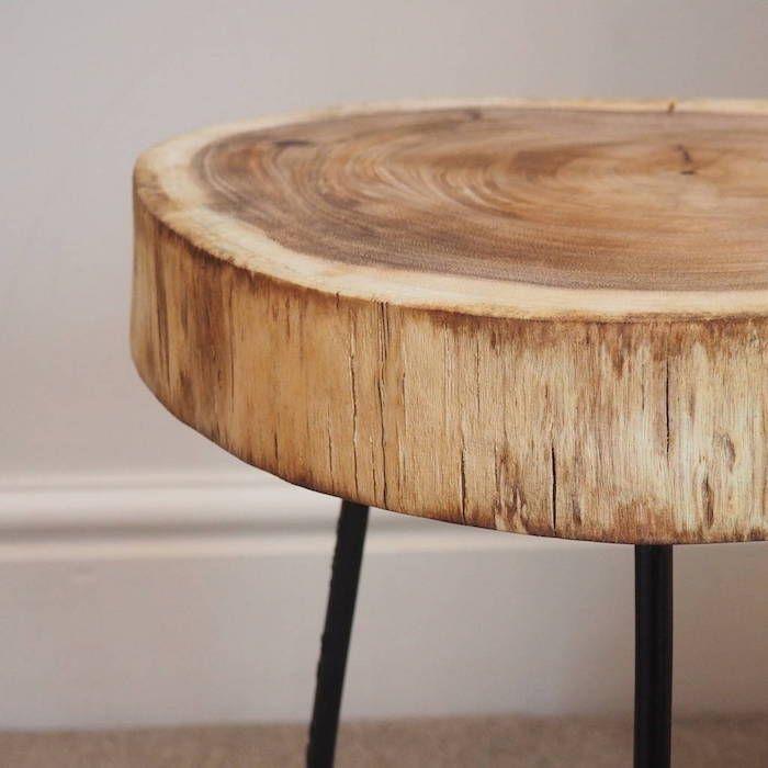 1001 Idees Table En Rondin De Bois Un Tronc Peut En Cache Un Autre Rondin De Bois Table Bois Table Basse Bois