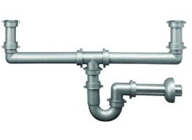 """1627 - Sifone 2 VIE P.P. grigio 2"""" tubo scarico diam. 40 #sifone #scarico #traps"""