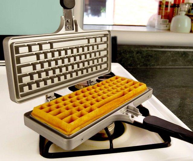 Keyboard Waffle Iron  Yes please!