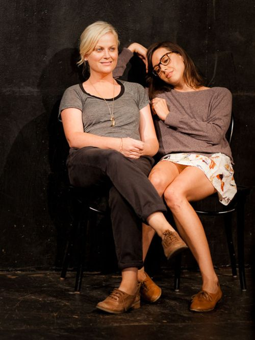 Amy Poehler and Aubrey Plaza...two people I wish were my BFFs in real life!