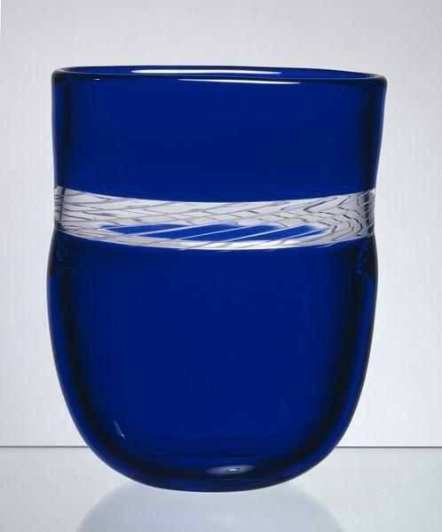 """Vase, """"incalmo"""" technique glass, Norway, designed by Arne Jon Jutrem, for Hadeland Glassworks, 1988"""