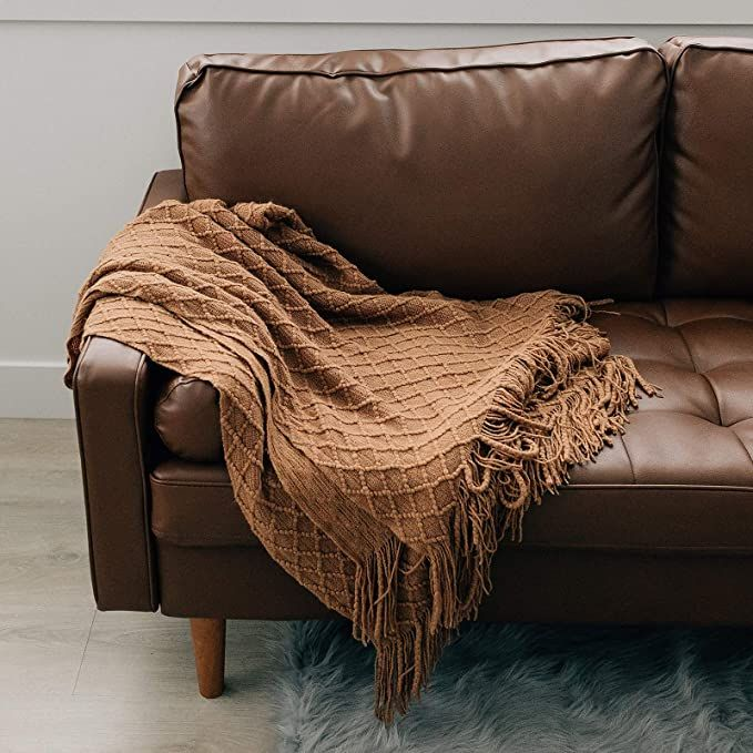 Amazon Com Graced Soft Luxuries Throw Blankets Woven Soft For Sofa Couch Decorative Knitted Farmhouse Fringe In 2020 Luxury Throw Blankets Throw Blanket Luxury Throws