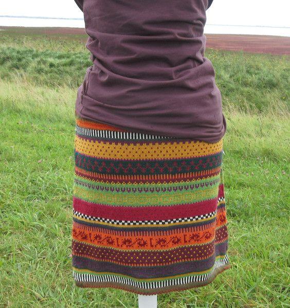 Miniröcke - Strickrock Valpu Gr. M - ein Designerstück von Lotta_888 bei DaWanda