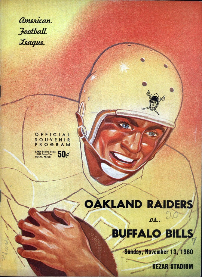 1960 AFL Game Program - Buffalo Bills vs. Oakland Raiders