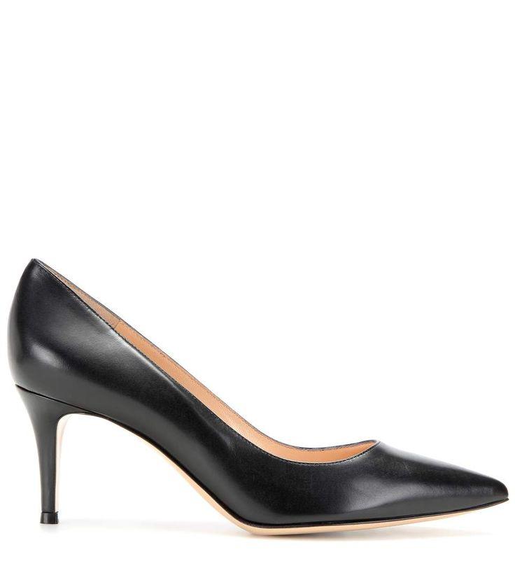 Gianvito 70 black leather pumps