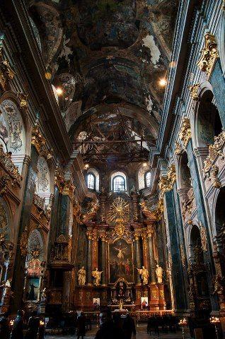 St Yura Cathedral inside, Lviv, UKRAINE
