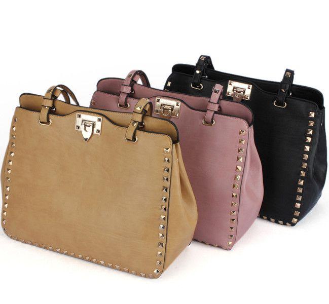 Rivets Shoulder Messenger Bag