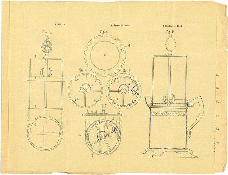 Page 4 du brevet d'invention N°575.729 de l'ONPI daté du 5 aout 1924 - Filtre-presseur à café, thé e