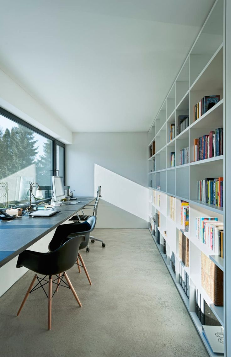 einfamilienhaus am wörthsee : moderne Arbeitszimmer von gramming rosenmüller architekten