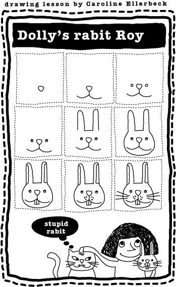 Maak met Pasen diepe indruk op het grut door uit de losse pols dit ubercute konijntje te tekenen - sweet!
