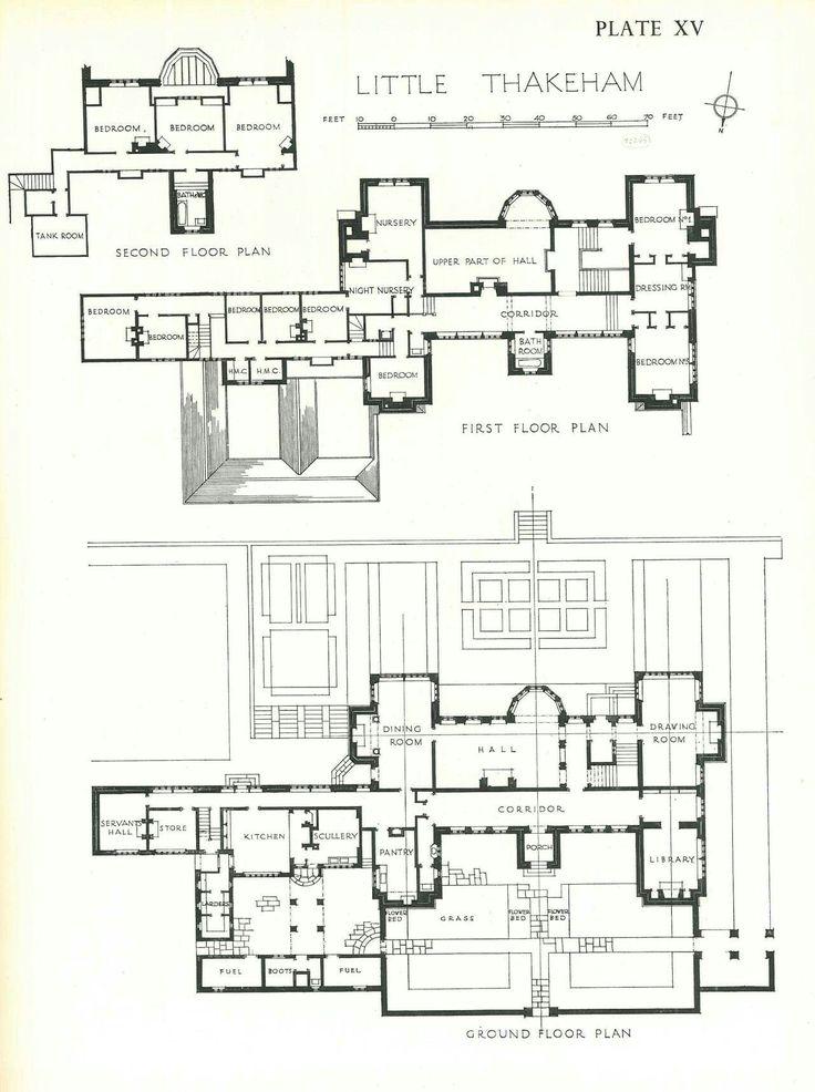 Manor House Drawing: Little Thakeham Floor Plan - 1,280×1,716 Pixels