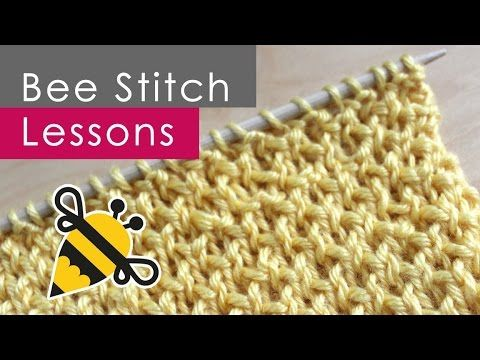 ▶ How to Knit the BEE STITCH