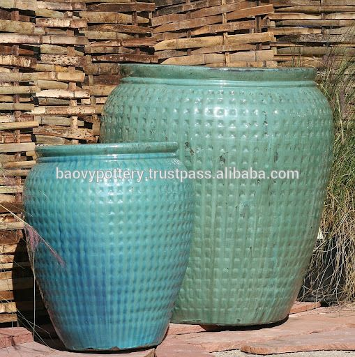 new model tall large glazed outdoor ceramic pottery for