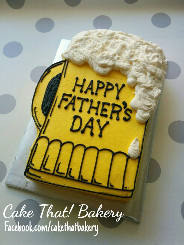 Father's day beer mug sheet cake                              …